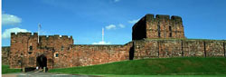 Carlisle Castle is only 45 minutes by car from Milburn Grange holiday cottages (photo courtesy of Cumbria Tourist Board).